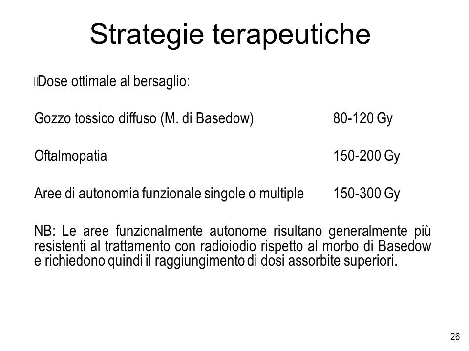 Strategie terapeutiche