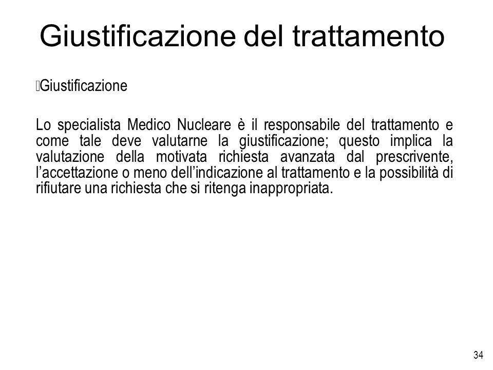 Giustificazione del trattamento