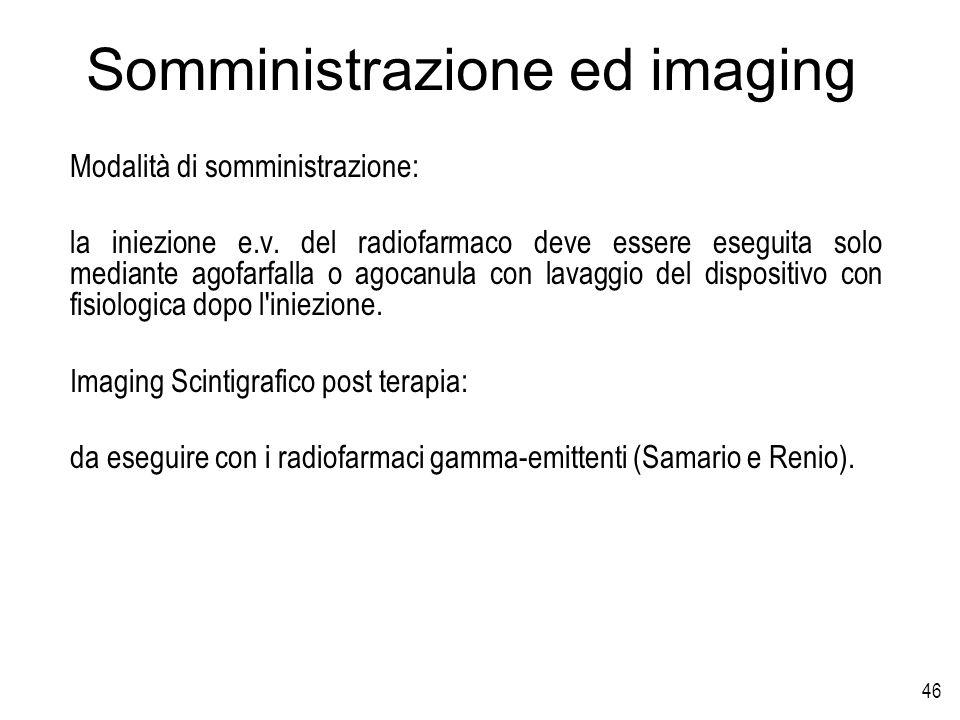 Somministrazione ed imaging