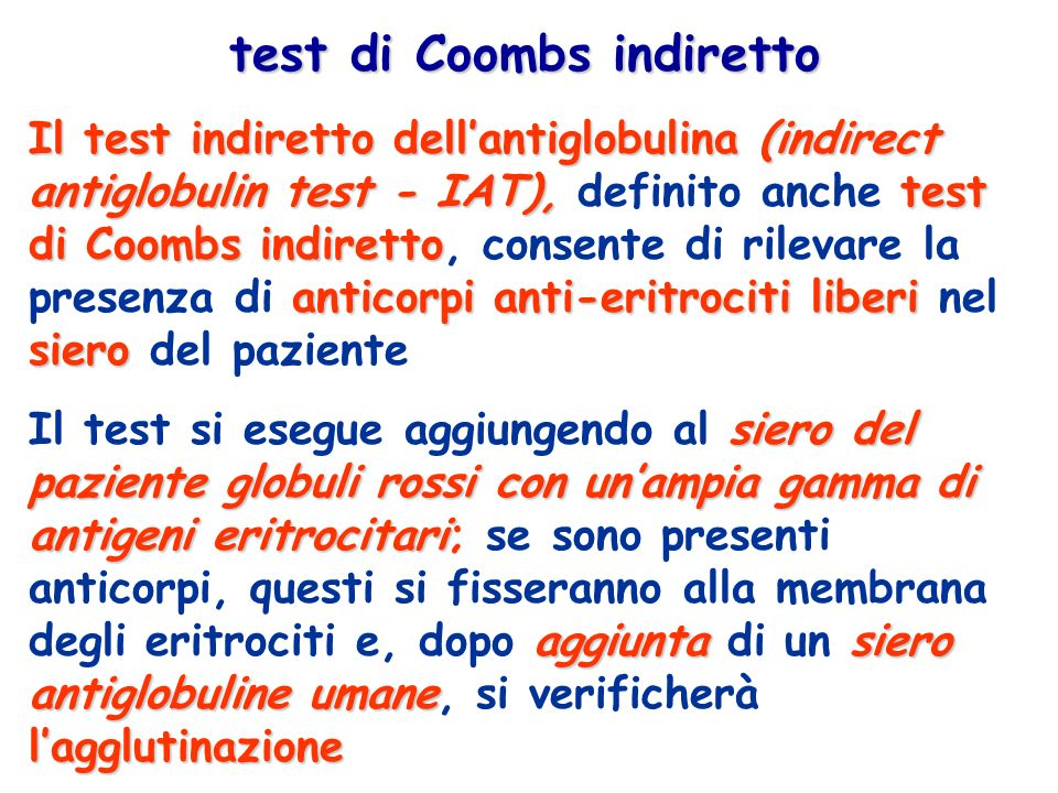 test di Coombs indiretto