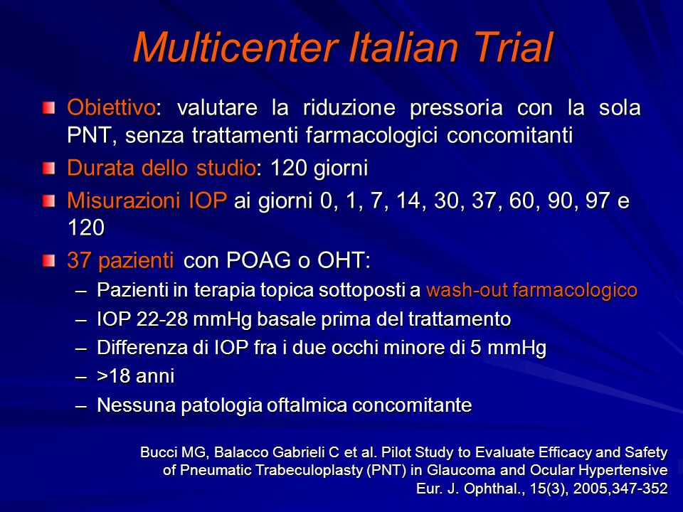 Multicenter Italian Trial