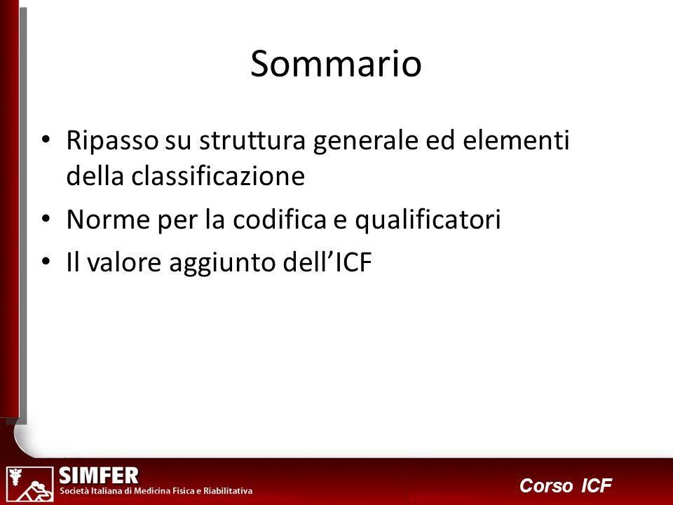 Sommario Ripasso su struttura generale ed elementi della classificazione. Norme per la codifica e qualificatori.