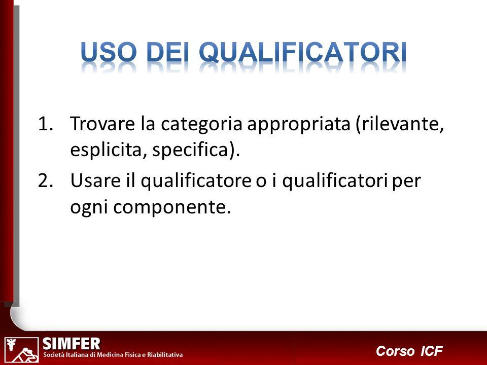 USO DEI QUALIFICATORITrovare la categoria appropriata (rilevante, esplicita, specifica).