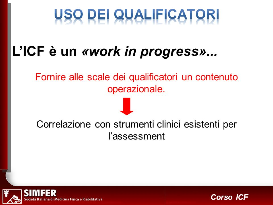 L'ICF è un «work in progress»...