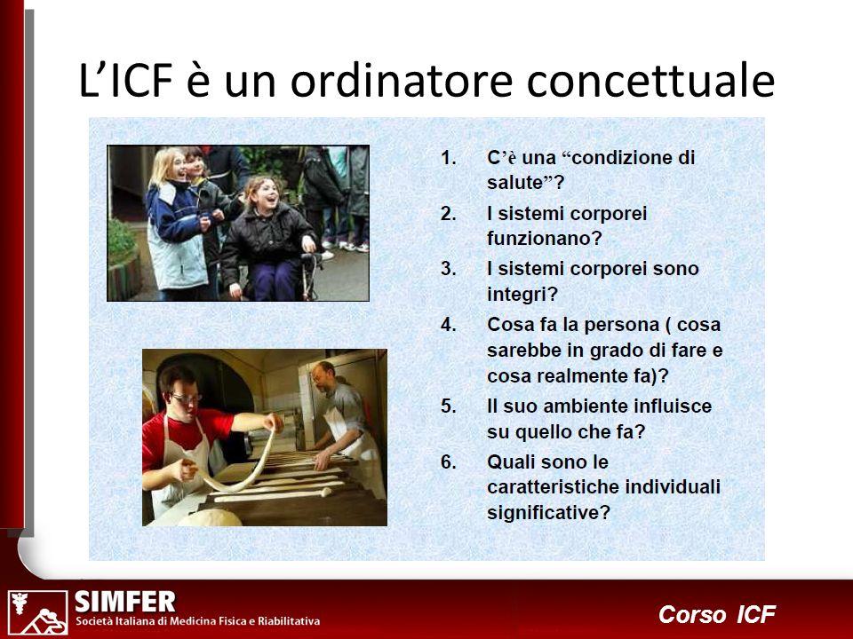 L'ICF è un ordinatore concettuale
