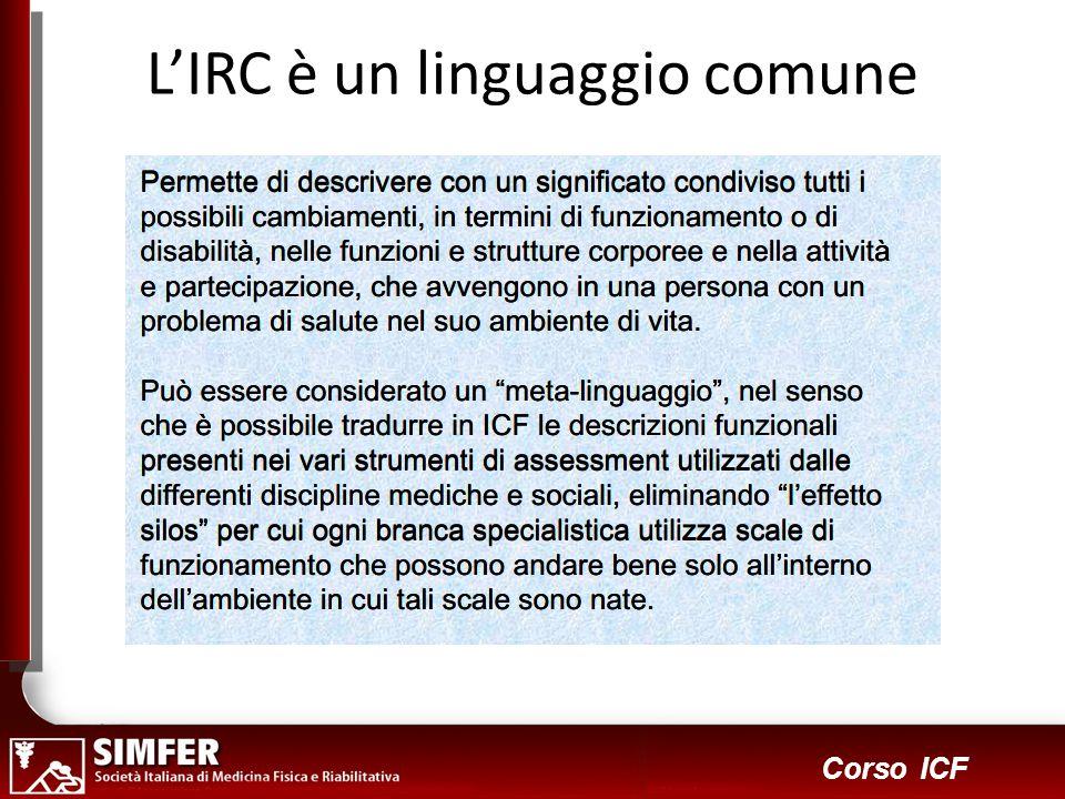 L'IRC è un linguaggio comune