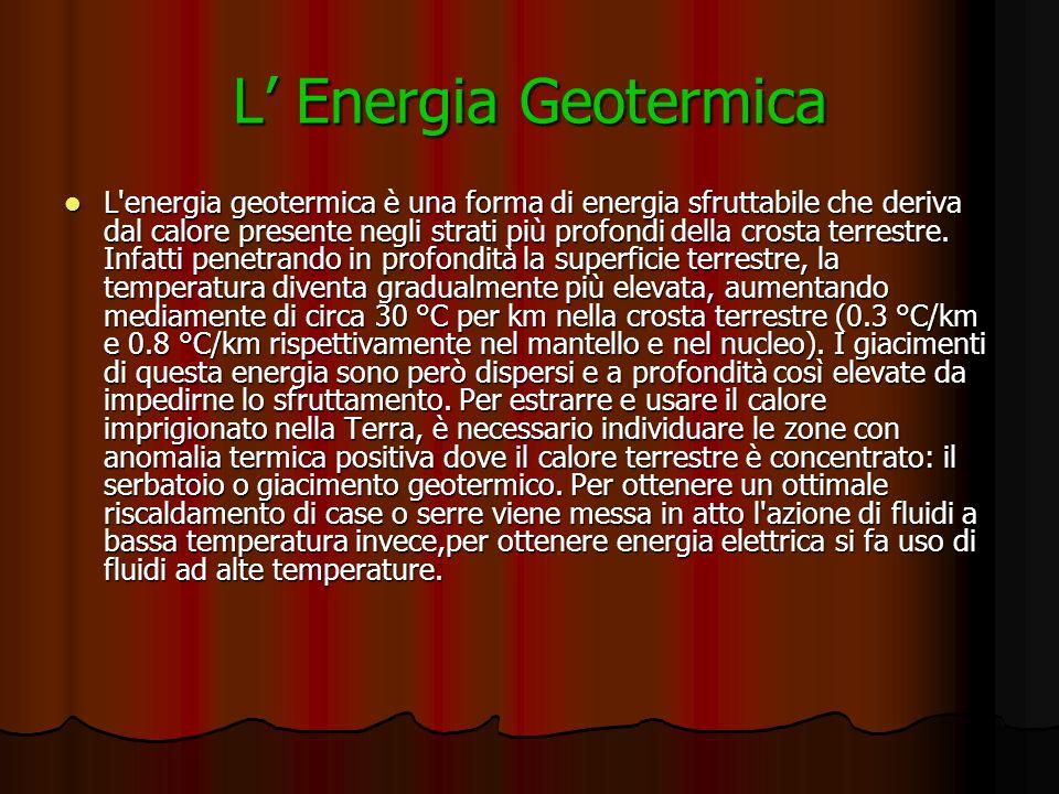 L' Energia Geotermica