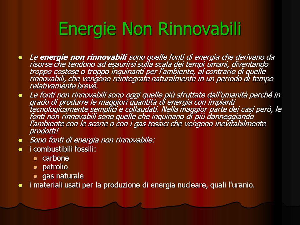 Energie Non Rinnovabili