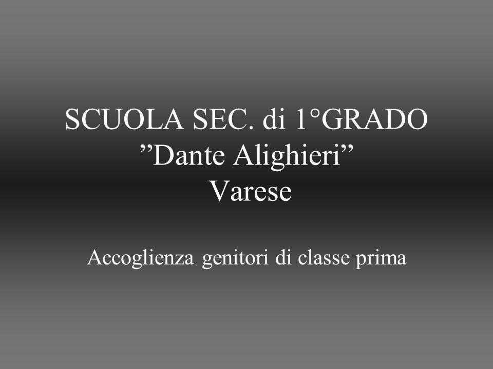 SCUOLA SEC. di 1°GRADO Dante Alighieri Varese