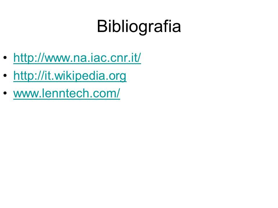 Bibliografia http://www.na.iac.cnr.it/ http://it.wikipedia.org