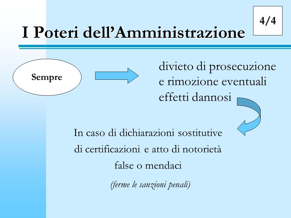 I Poteri dell'Amministrazione