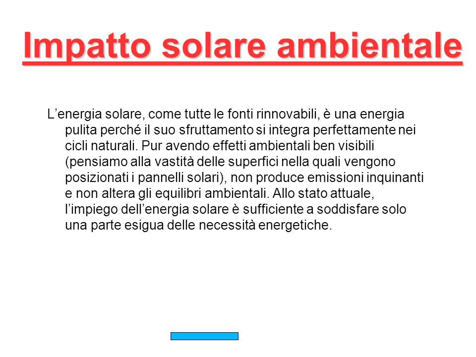 Impatto solare ambientale