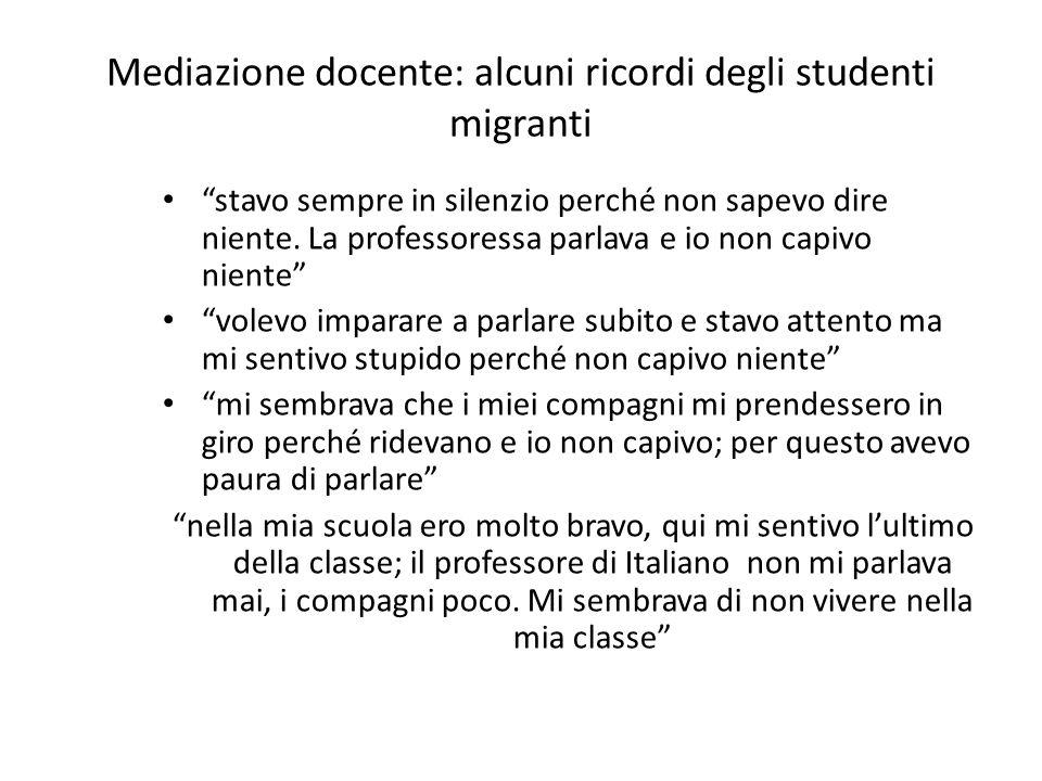 Mediazione docente: alcuni ricordi degli studenti migranti