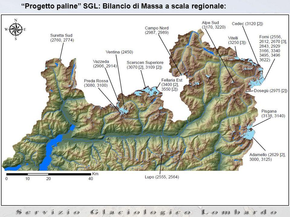 Progetto paline SGL: Bilancio di Massa a scala regionale: