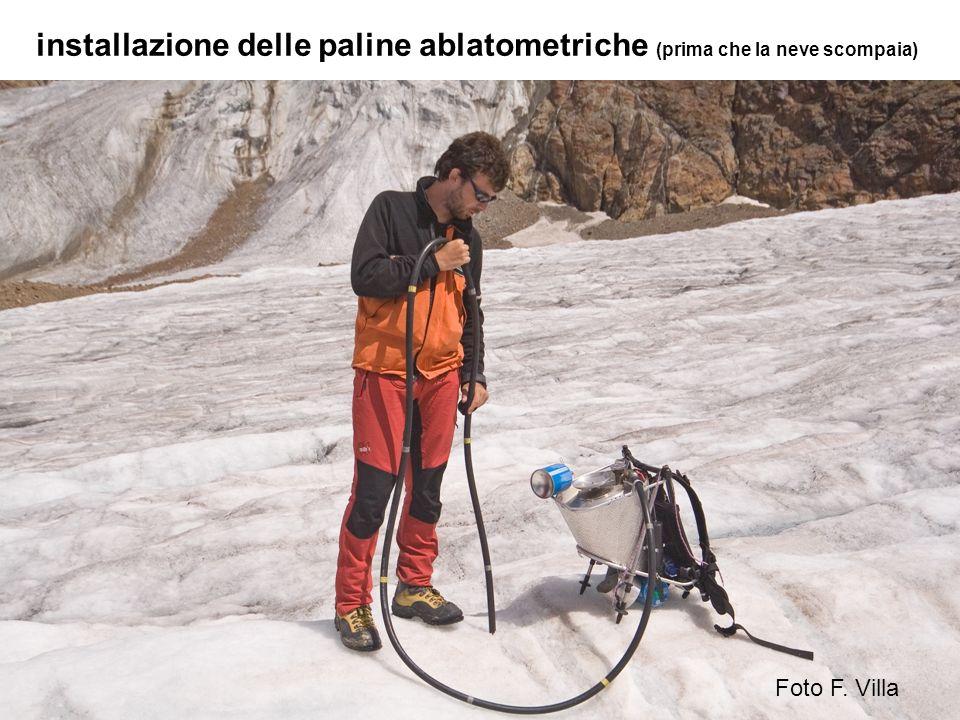 installazione delle paline ablatometriche (prima che la neve scompaia)