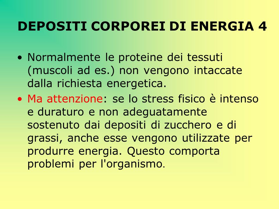 DEPOSITI CORPOREI DI ENERGIA 4