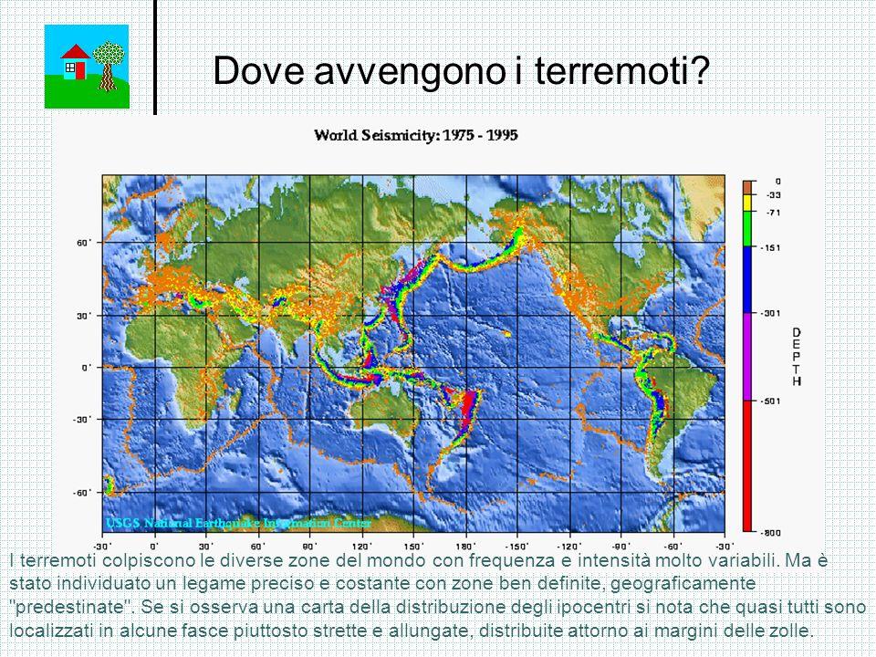 Dove avvengono i terremoti