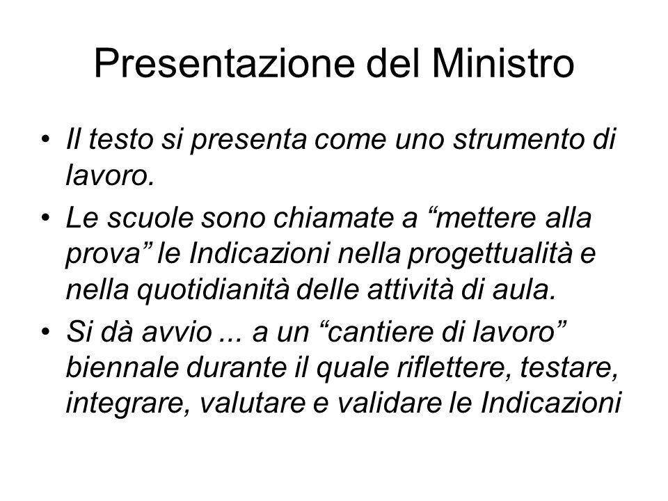 Presentazione del Ministro