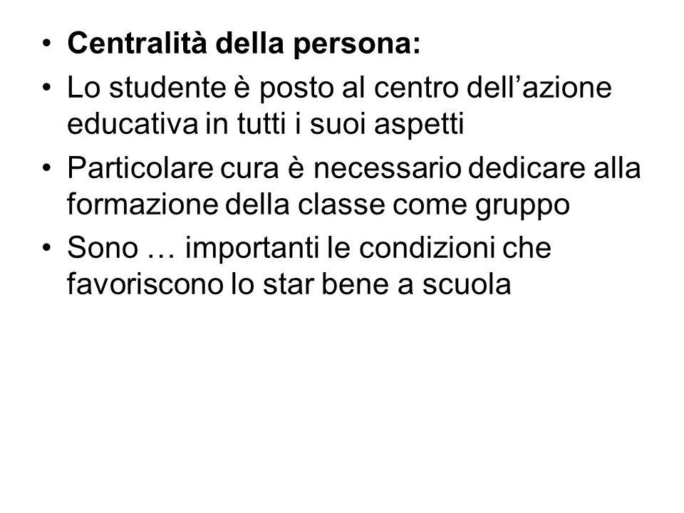 Centralità della persona: