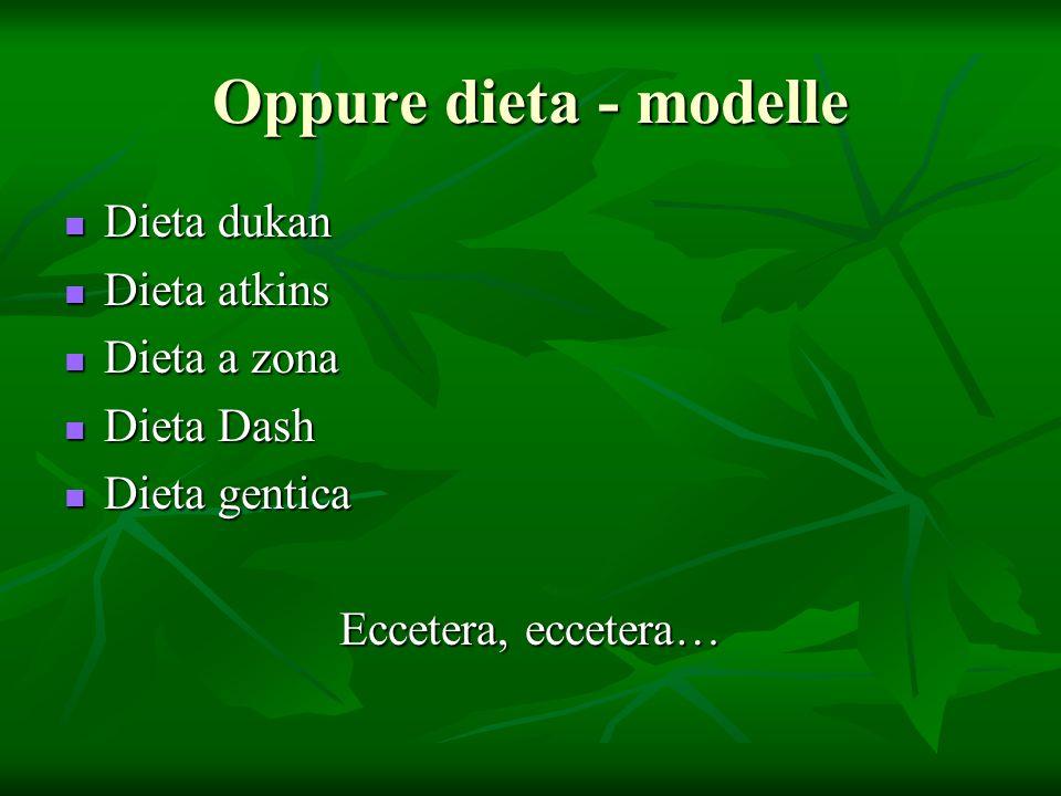 Oppure dieta - modelle Dieta dukan Dieta atkins Dieta a zona