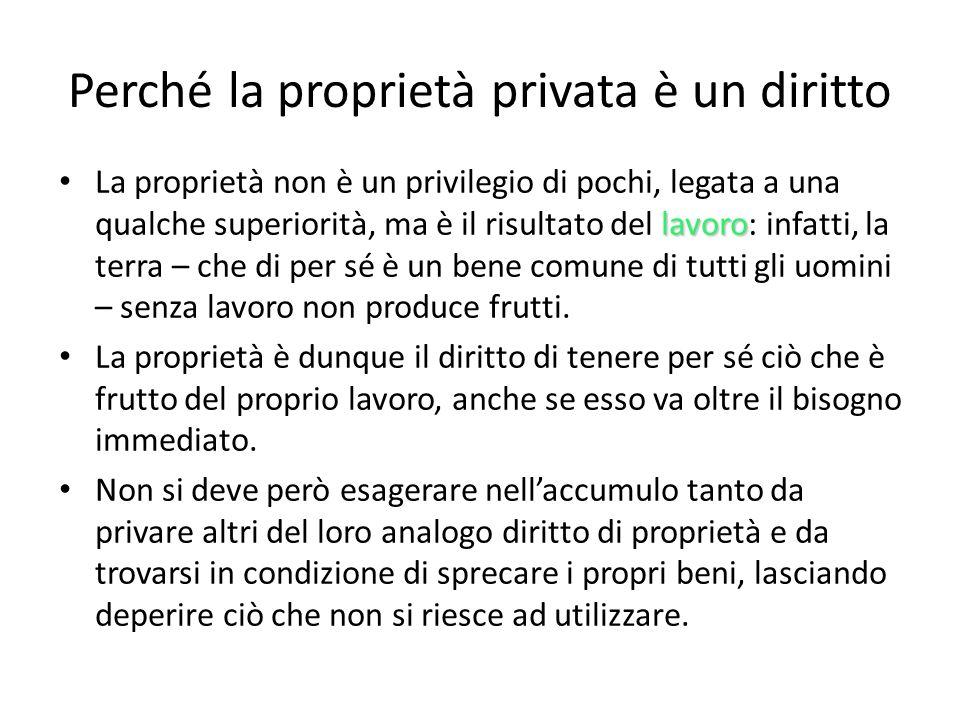 Perché la proprietà privata è un diritto