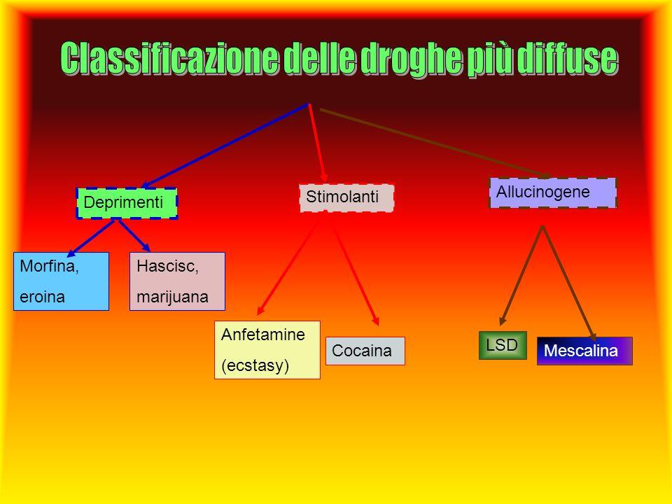 Classificazione delle droghe più diffuse