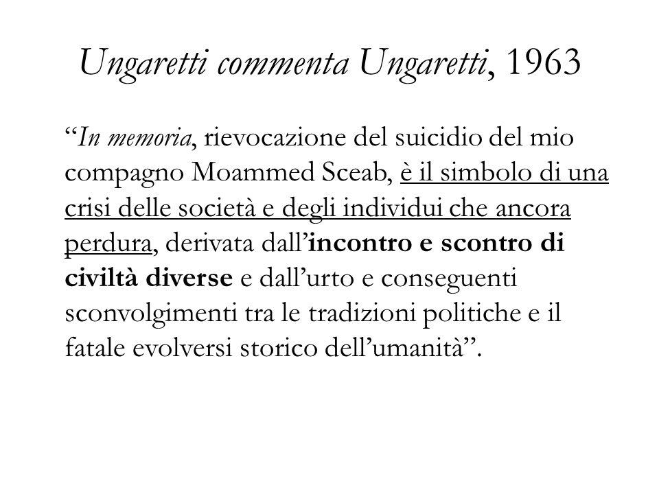 Ungaretti commenta Ungaretti, 1963
