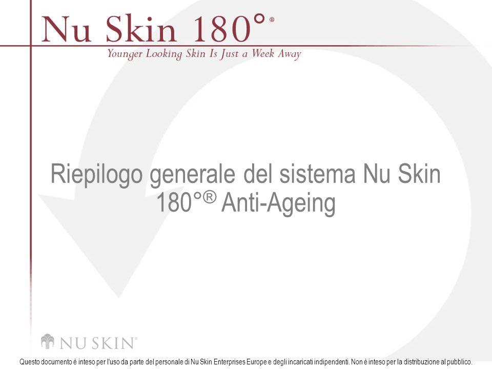 Riepilogo generale del sistema Nu Skin 180°® Anti-Ageing