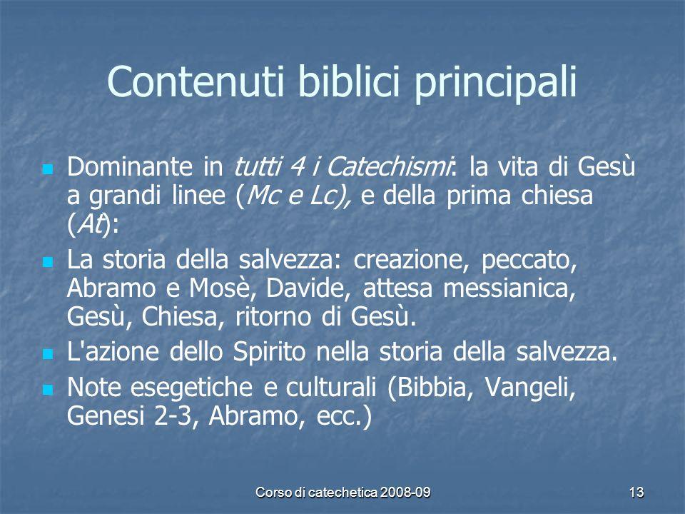 Contenuti biblici principali