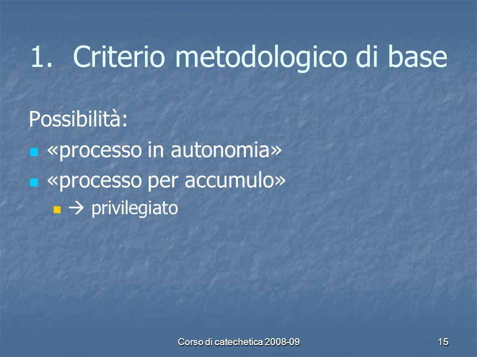 Criterio metodologico di base