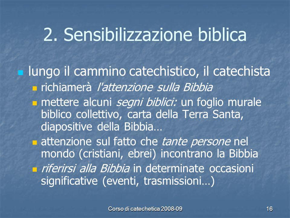 2. Sensibilizzazione biblica