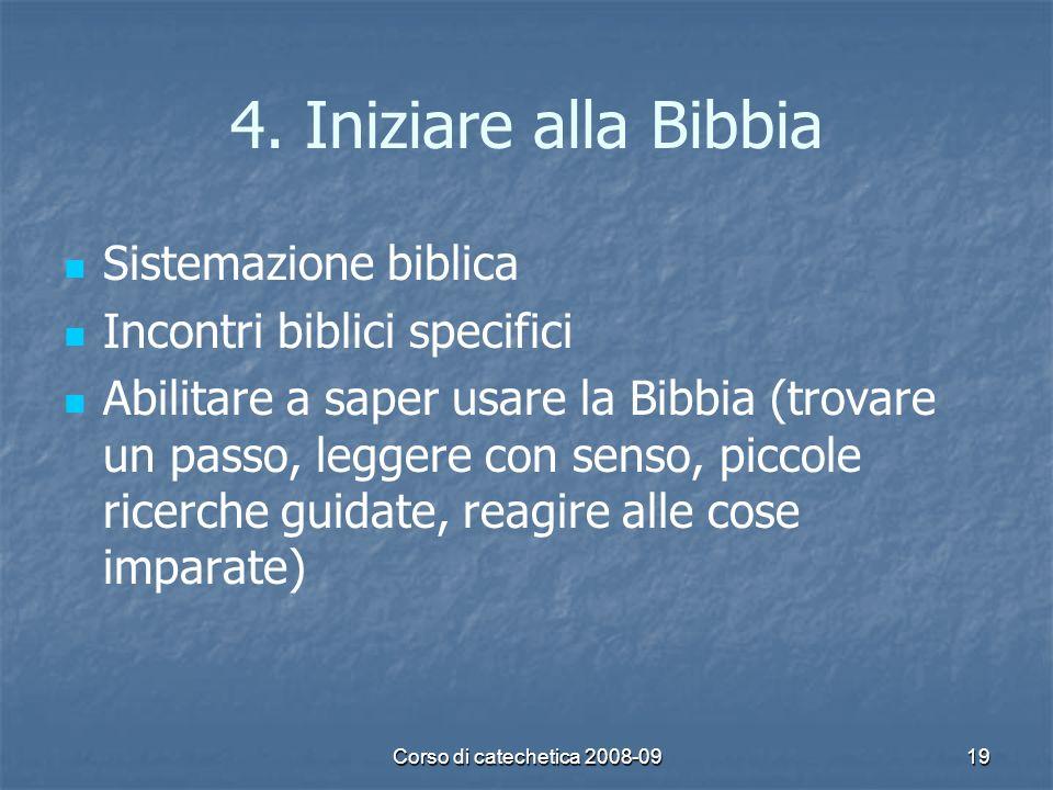 4. Iniziare alla Bibbia Sistemazione biblica
