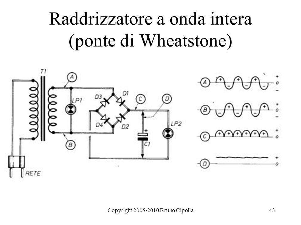Raddrizzatore a onda intera (ponte di Wheatstone)