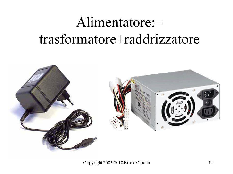 Alimentatore:= trasformatore+raddrizzatore