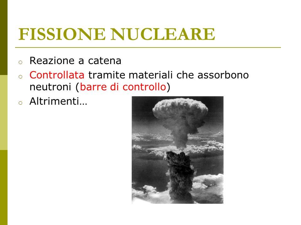 FISSIONE NUCLEARE Reazione a catena