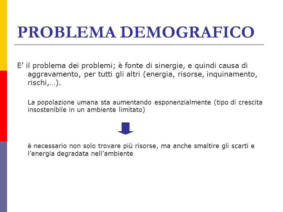 PROBLEMA DEMOGRAFICO