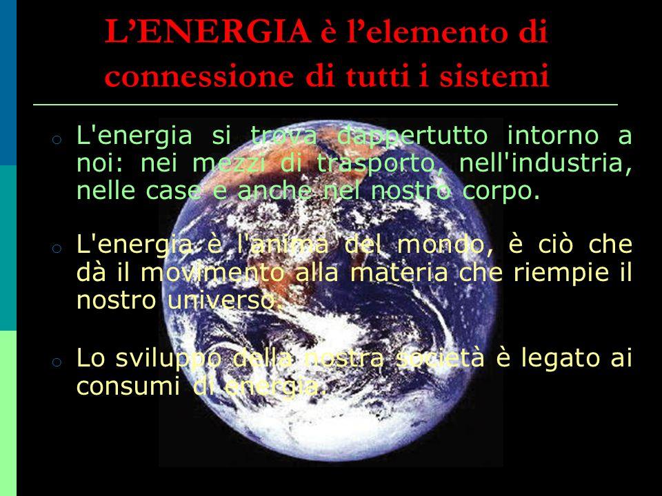 L'ENERGIA è l'elemento di connessione di tutti i sistemi