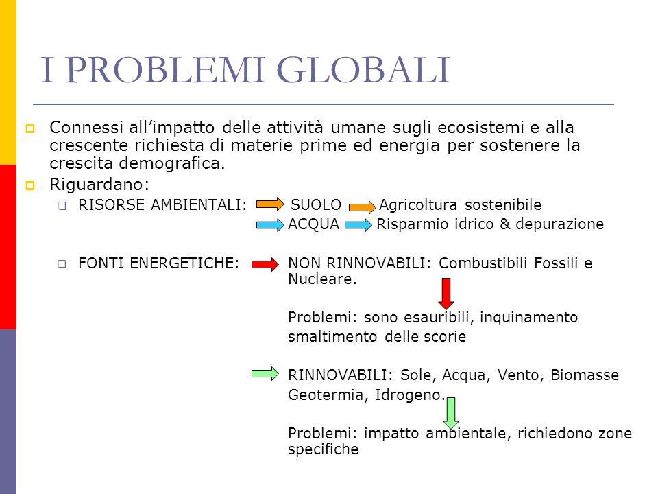 I PROBLEMI GLOBALI