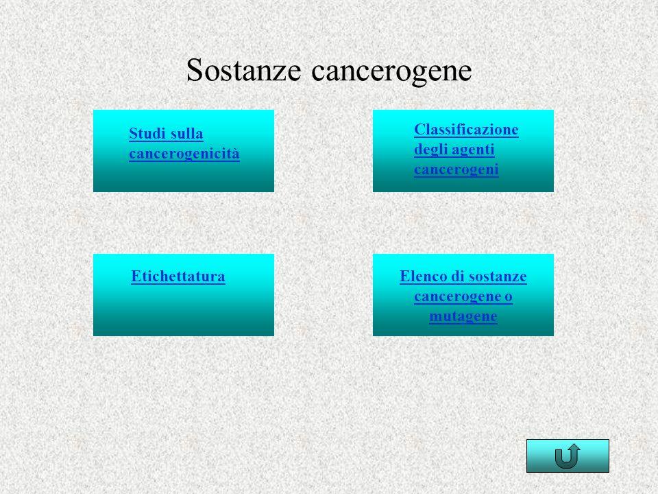 Elenco di sostanze cancerogene o mutagene