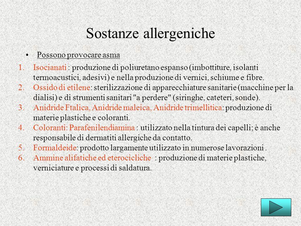 Sostanze allergeniche