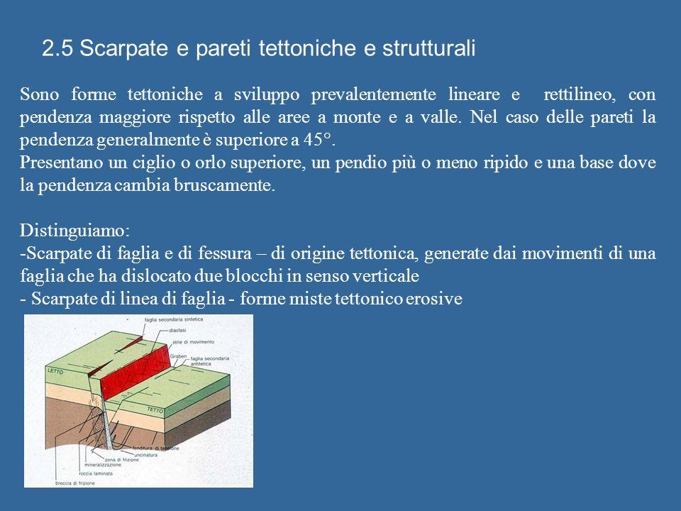 2.5 Scarpate e pareti tettoniche e strutturali