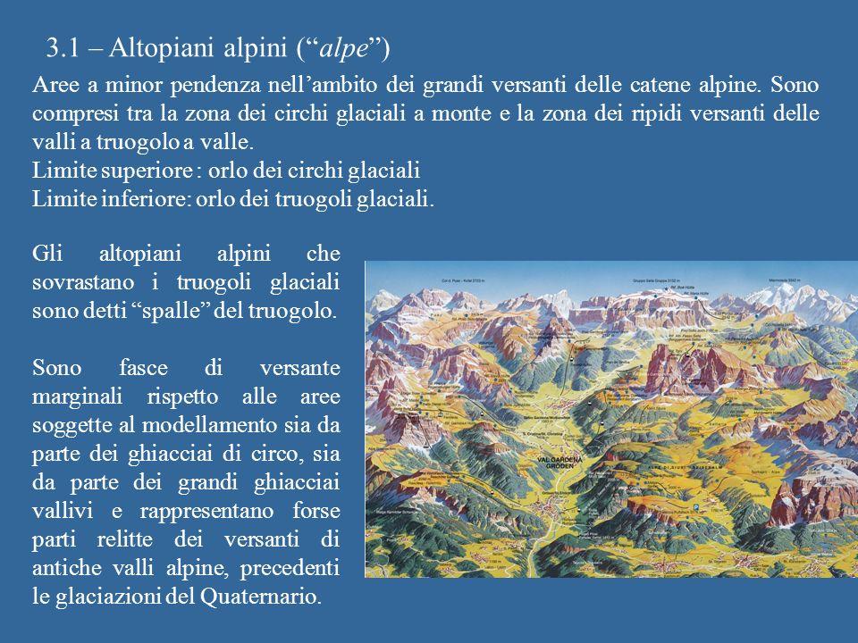 3.1 – Altopiani alpini ( alpe )