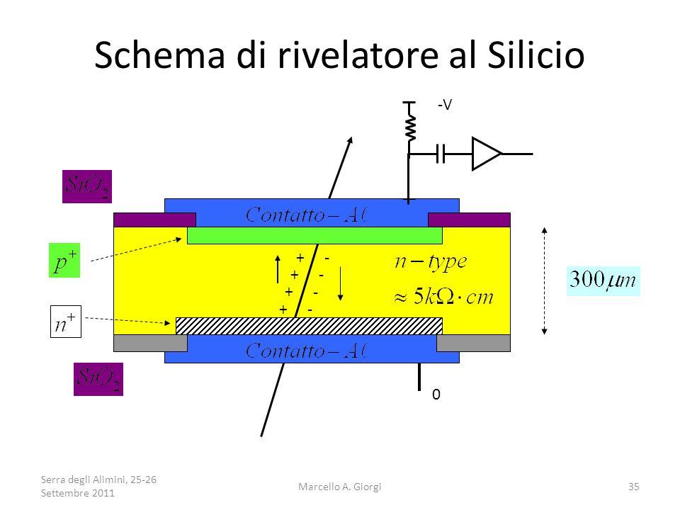Schema di rivelatore al Silicio