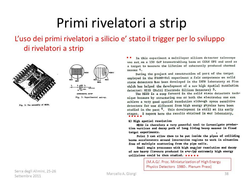 Primi rivelatori a strip