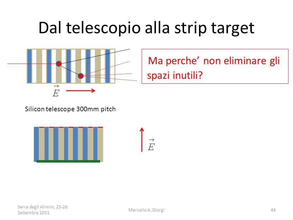 Dal telescopio alla strip target