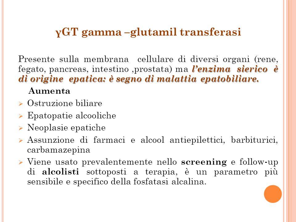 γGT gamma –glutamil transferasi
