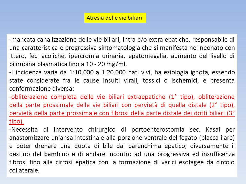 Atresia delle vie biliari