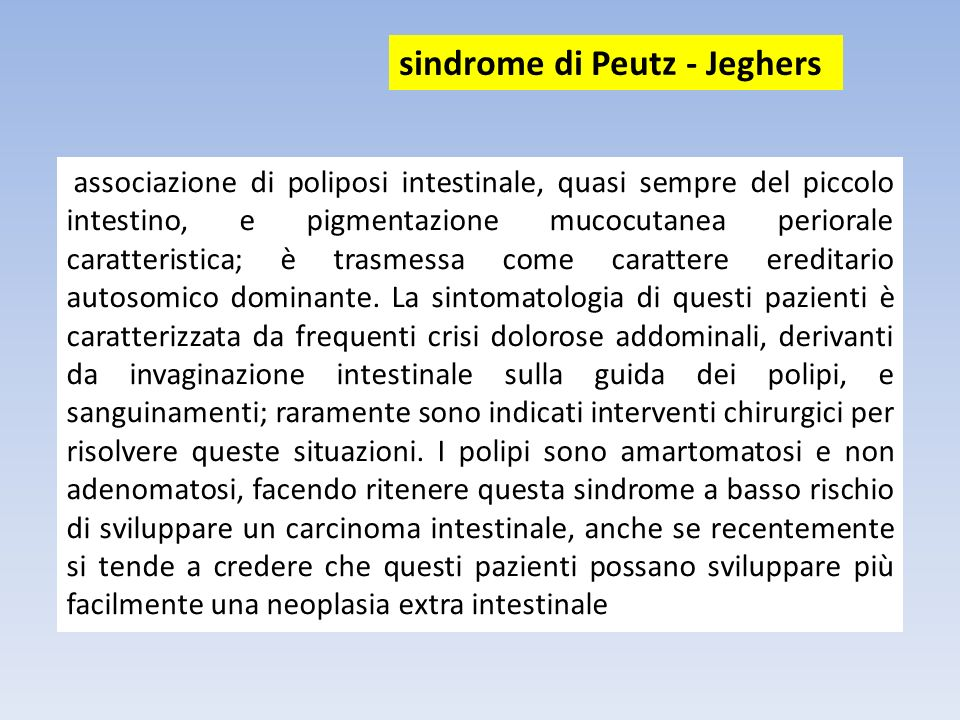 sindrome di Peutz - Jeghers