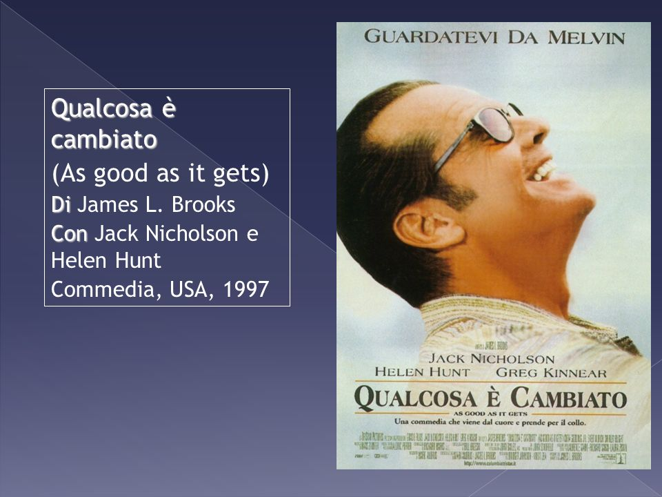Qualcosa è cambiato (As good as it gets) Di James L. Brooks