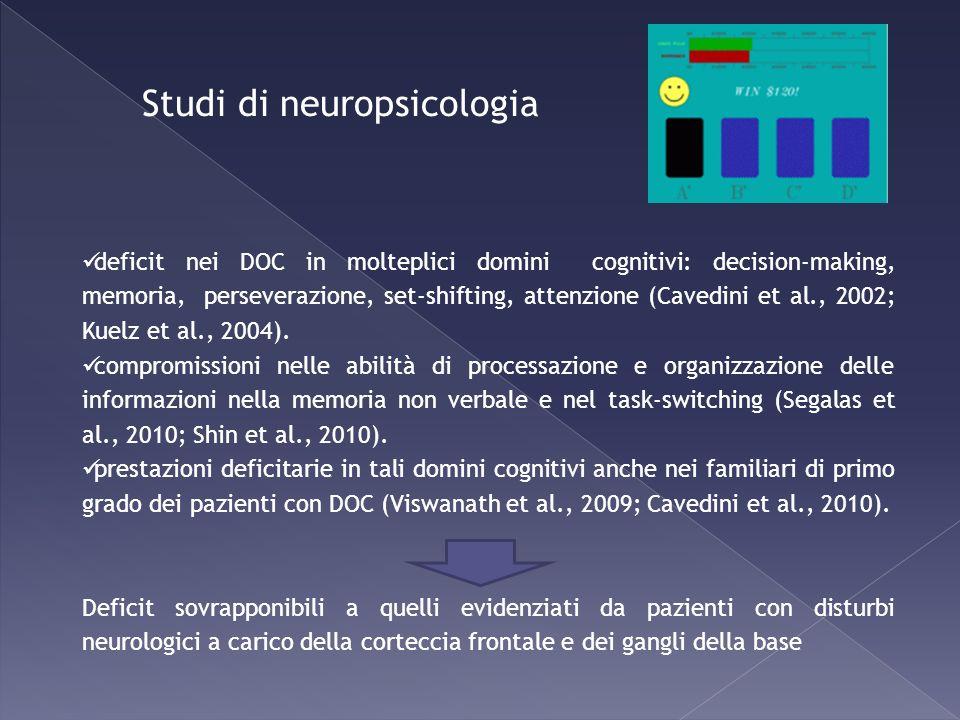 Studi di neuropsicologia
